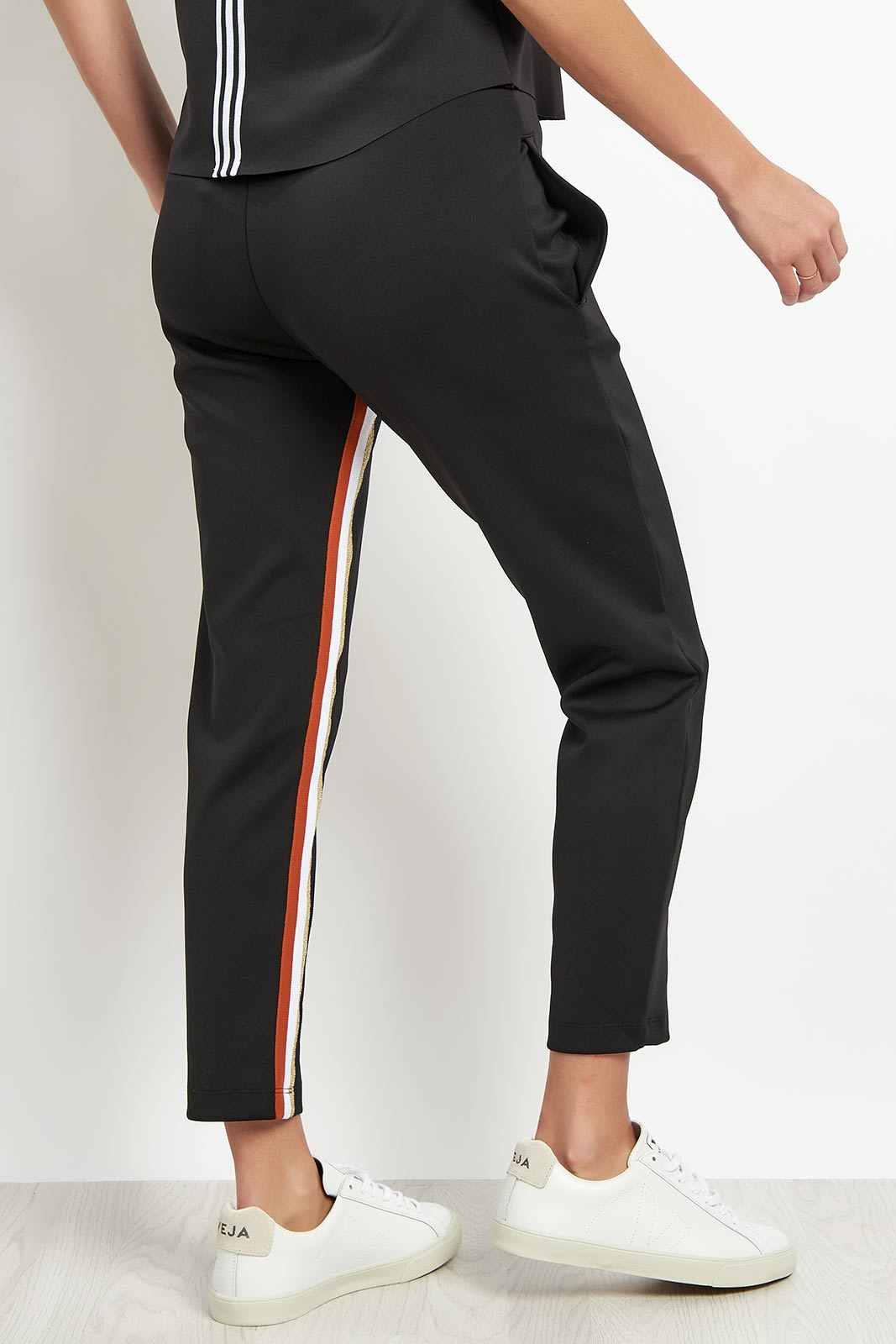 Koral Elizabeth Cropped Pant - Black/Gold image 2 - The Sports Edit