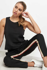 Koral Elizabeth Cropped Pant - Black/Gold image 3 - The Sports Edit