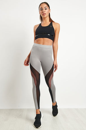 Koral Frame High Rise Legging - Chromium image 4 - The Sports Edit