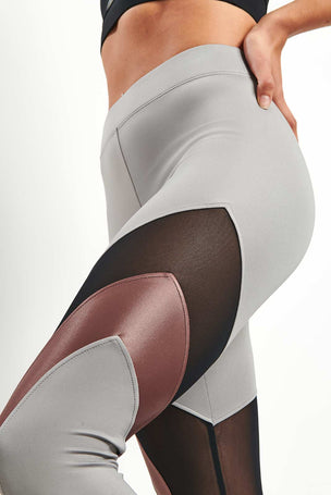 Koral Frame High Rise Legging - Chromium image 3 - The Sports Edit