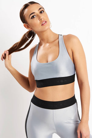 Koral Fame Energy Sports Bra - Silver image 5 - The Sports Edit