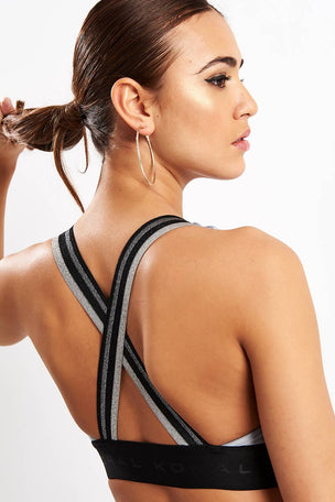 Koral Fame Energy Sports Bra - Silver image 3 - The Sports Edit
