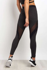 Koral Frame High Rise Legging - Heather / Black image 2 - The Sports Edit