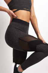 Koral Frame High Rise Legging - Heather / Black image 3 - The Sports Edit