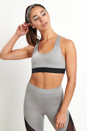 Koral Kingley Sports Bra - Chromium image 2 - The Sports Edit