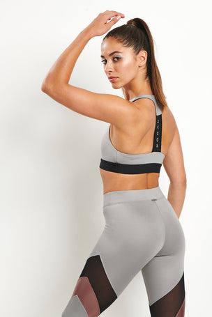 Koral Kingley Sports Bra - Chromium image 1 - The Sports Edit