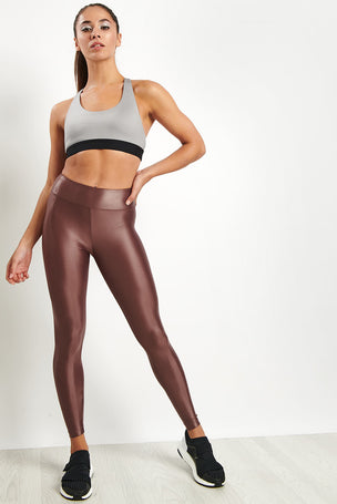 Koral Lustrous High Rise Legging - Marsala image 4 - The Sports Edit