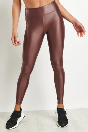 Koral Lustrous High Rise Legging - Marsala image 5 - The Sports Edit