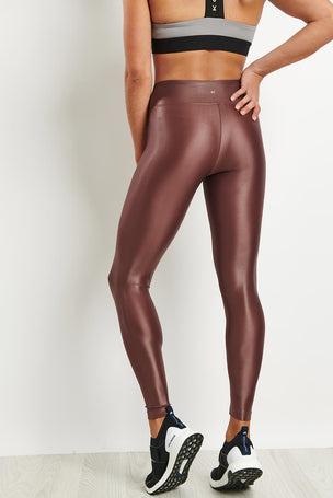 Koral Lustrous High Rise Legging - Marsala image 2 - The Sports Edit
