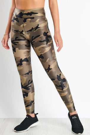 Koral Lustrous High Rise Legging - Green Camouflage image 1 - The Sports Edit