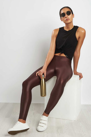 Koral Lustrous R Rise Legging Bordeaux image 1 - The Sports Edit
