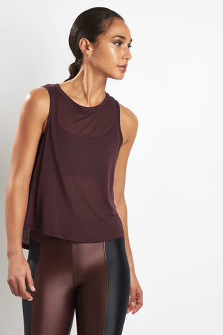 Koral Muscle Tank Bordeaux image 1 - The Sports Edit