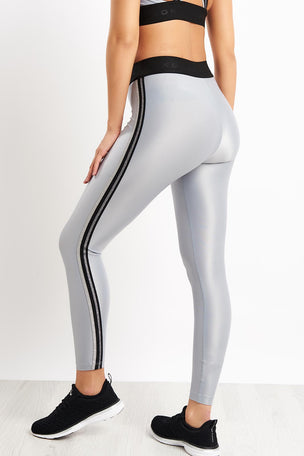 Koral Rhys Mid Rise Energy Legging - Silver image 2 - The Sports Edit