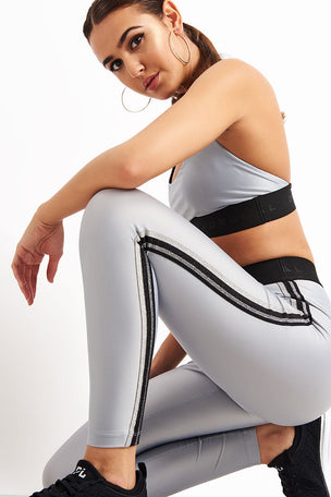 Koral Rhys Mid Rise Energy Legging - Silver image 3 - The Sports Edit