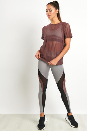 Koral Size Up Tee - Marsala image 4 - The Sports Edit