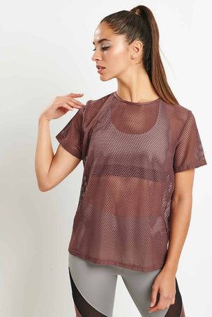 Koral Size Up Tee - Marsala image 5 - The Sports Edit