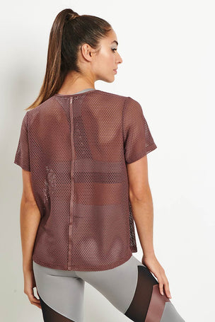 Koral Size Up Tee - Marsala image 2 - The Sports Edit