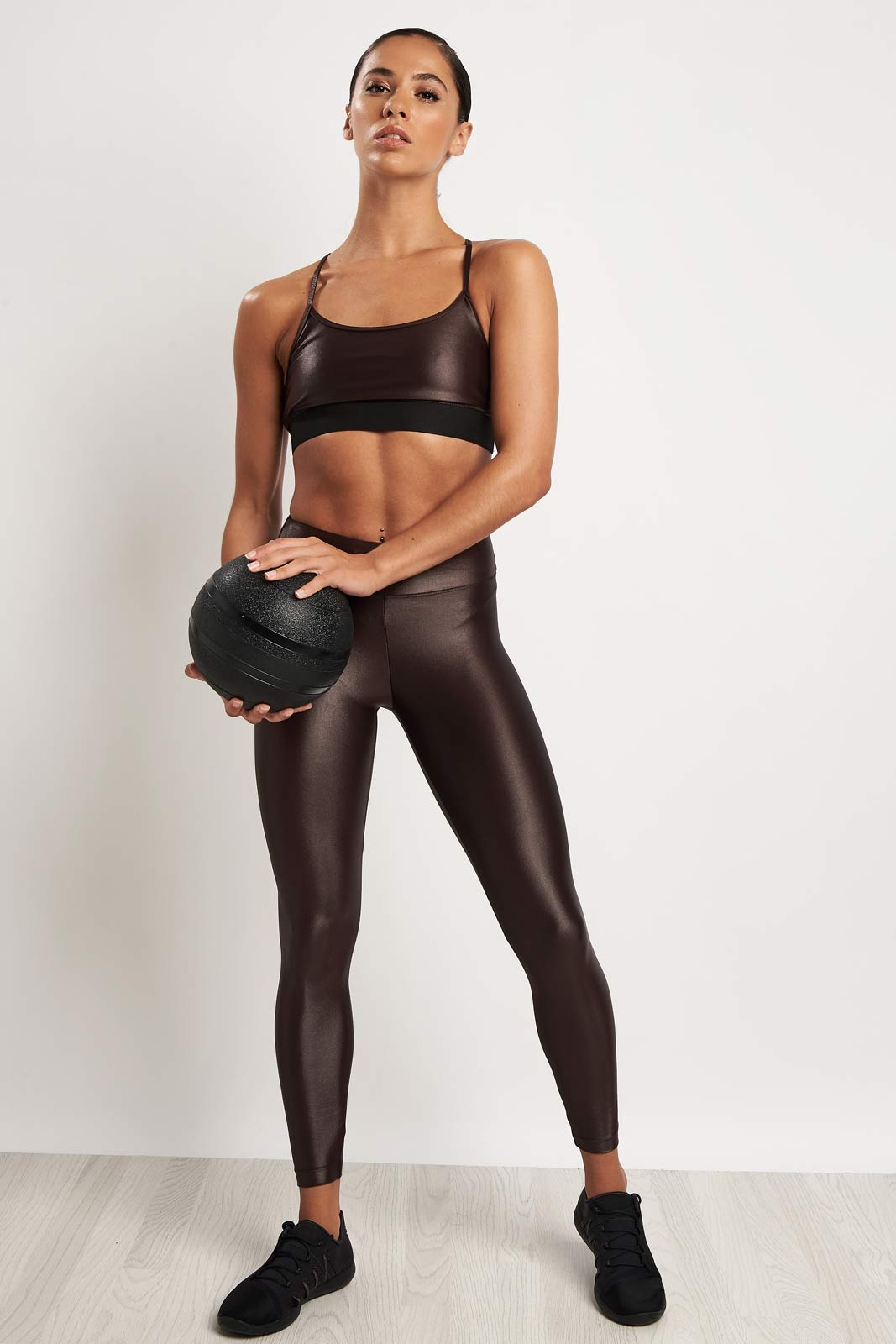 Koral Sweeper Versatility Bra - Choc image 4 - The Sports Edit