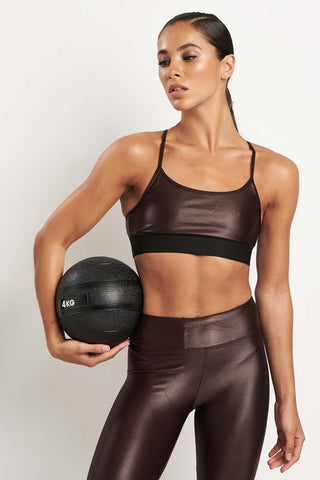 Koral Sweeper Versatility Bra - Choc image 1 - The Sports Edit