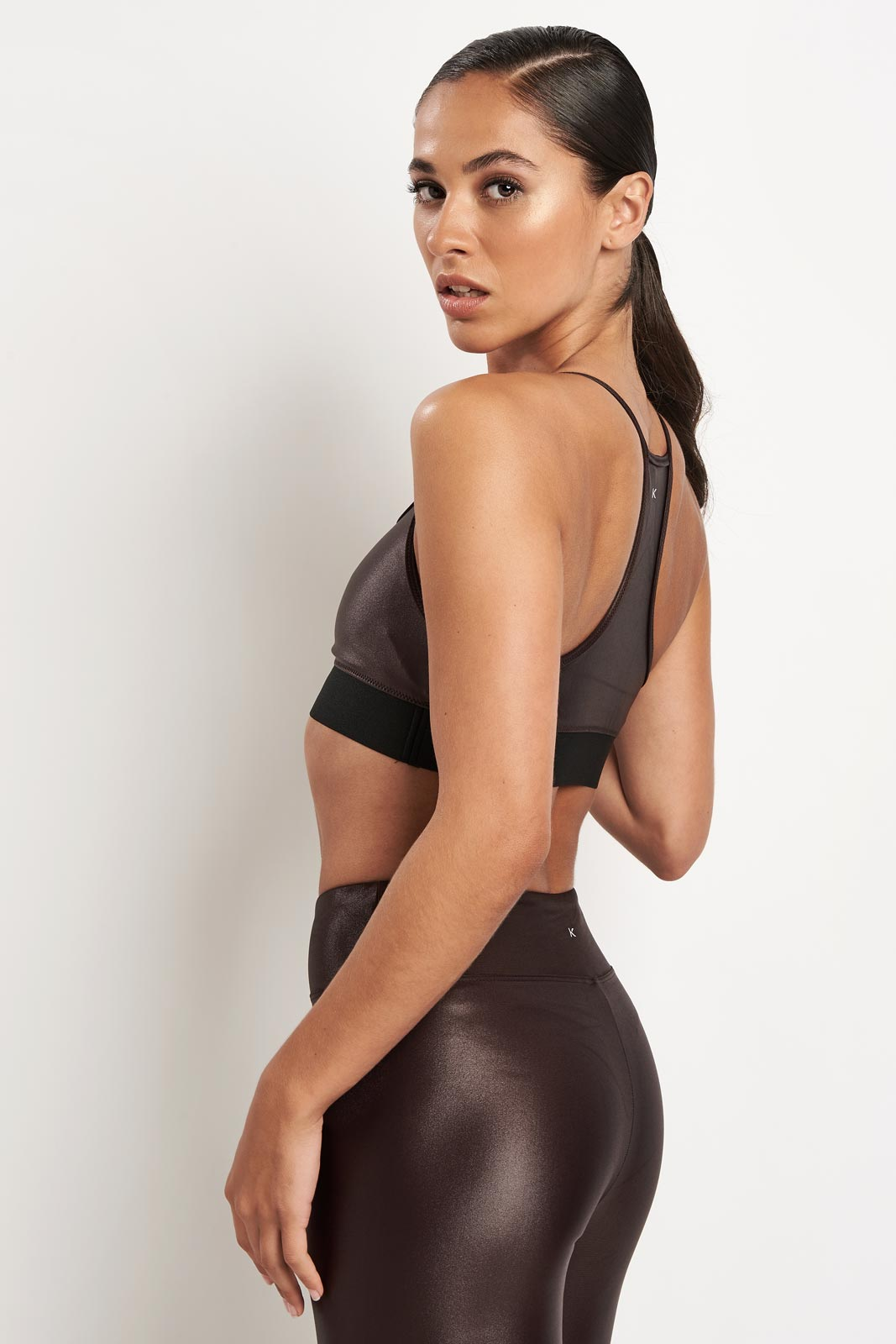 Koral Sweeper Versatility Bra - Choc image 2 - The Sports Edit