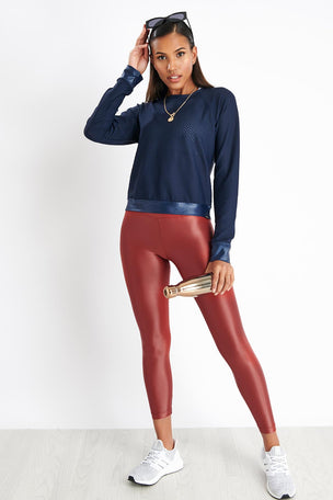Koral Sofia Pullover - Midnight Blue image 4 - The Sports Edit
