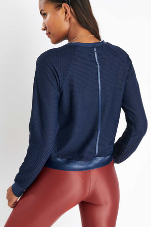 Koral Sofia Pullover - Midnight Blue image 2 - The Sports Edit