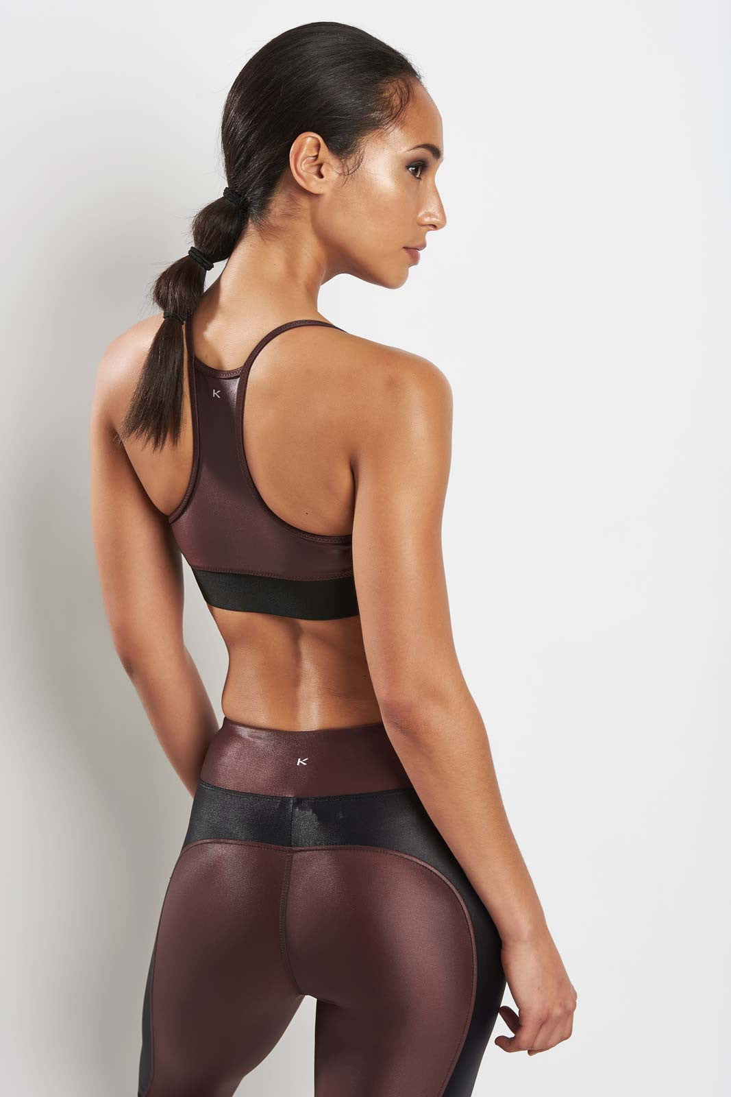 Koral Sweeper Versatility Bra Bordeaux image 2 - The Sports Edit