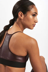 Koral Sweeper Versatility Bra Bordeaux image 3 - The Sports Edit