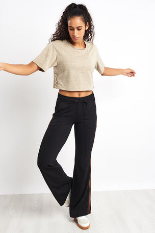 Koral Terra Luxe Crop Top - Gold Heather image 4 - The Sports Edit
