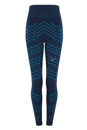 Lucas Hugh Vestige Tech Knit Leggings Marine image 4 - The Sports Edit
