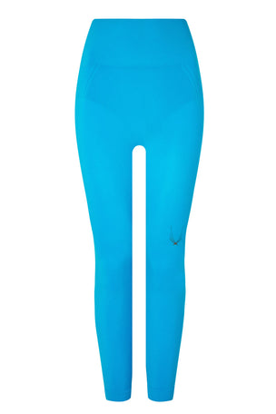 Lucas Hugh Tech Knit 7/8 Leggings - Electric Blue image 4 - The Sports Edit