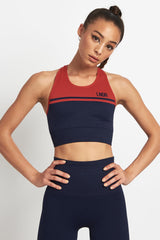 LNDR A Grade Bra Navy/Red image 1 - The Sports Edit