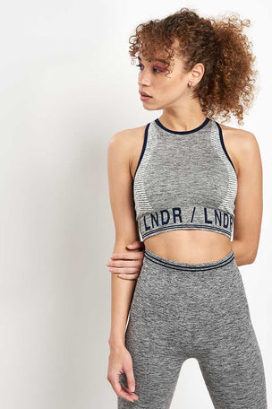 LNDR AERO.01 Bra - Grey Marl image 1 - The Sports Edit