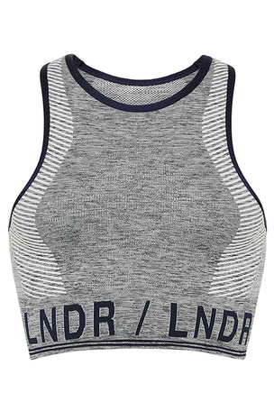 LNDR AERO.01 Bra - Grey Marl image 5 - The Sports Edit