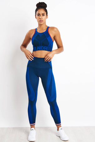 LNDR All Seasons Sports Bra - Blue Petrol image 4 - The Sports Edit