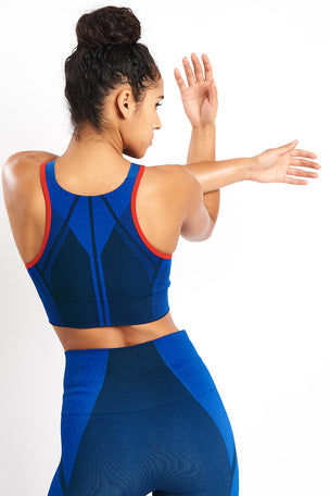 LNDR All Seasons Sports Bra - Blue Petrol image 2 - The Sports Edit