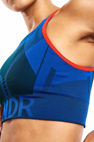 LNDR All Seasons Sports Bra - Blue Petrol image 3 - The Sports Edit