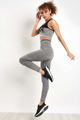 LNDR Cadet Bra - Grey Marl image 4 - The Sports Edit