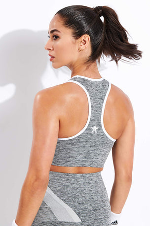 LNDR Comet Sports Bra - Grey Marl image 3 - The Sports Edit