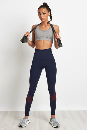 LNDR Eight Eight Leggings-Navy/Red image 4 - The Sports Edit