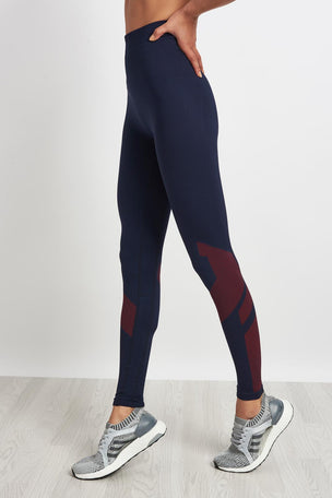 LNDR Eight Eight Leggings-Navy/Red image 1 - The Sports Edit