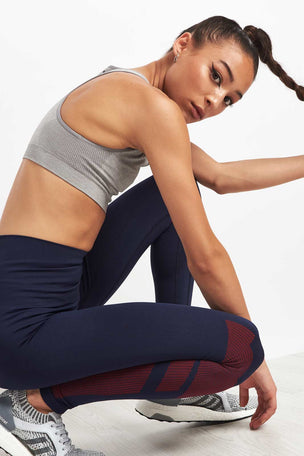 LNDR Eight Eight Leggings-Navy/Red image 3 - The Sports Edit