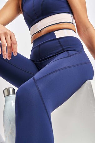 LNDR Marvel Legging - Navy image 3 - The Sports Edit