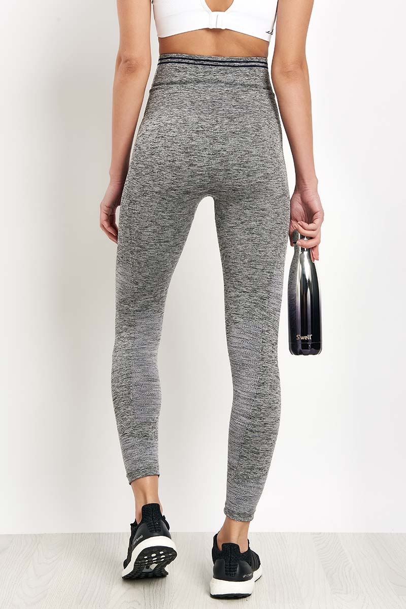LNDR Seven Eight Legging - Grey Marl image 2 - The Sports Edit