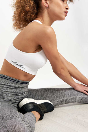 LNDR Seven Eight Legging - Grey Marl image 3 - The Sports Edit