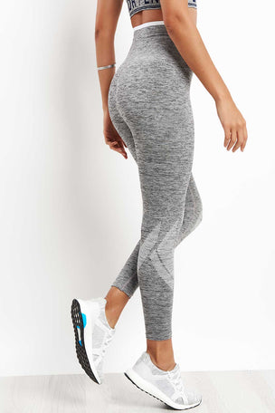 LNDR Six Eight With Stripe Leggings - Grey Marl image 2 - The Sports Edit