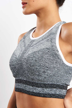 LNDR Shape Sports Bra - Light Grey Marl image 3 - The Sports Edit