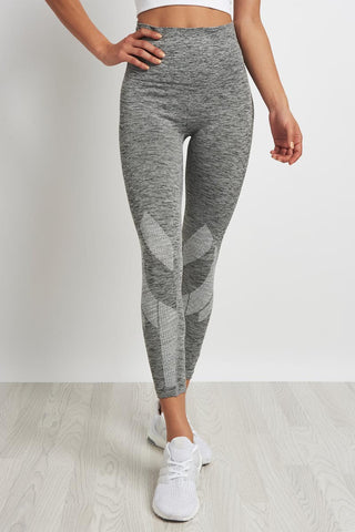 LNDR Six Eight Cropped Leggings - Grey Marl image 1 - The Sports Edit