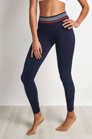 LNDR Tempo Legging - Navy Marl image 1 - The Sports Edit