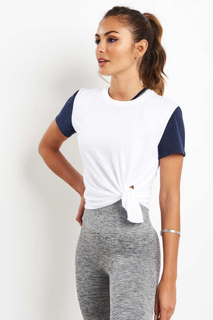 LNDR Tuck Tie Tee White image 5 - The Sports Edit